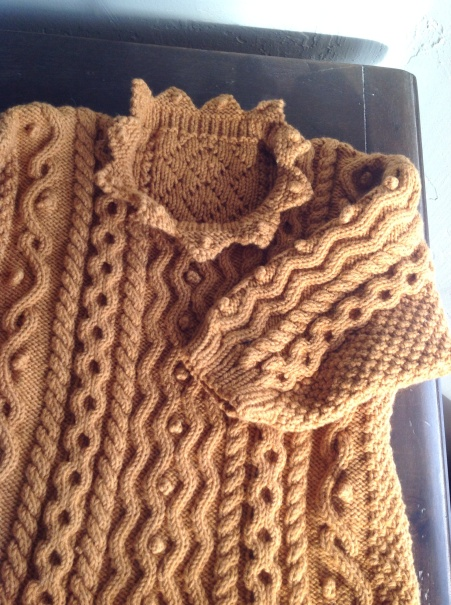 Debbie Bliss Aran Sweater knit with Amy Butler Belle Organic DK