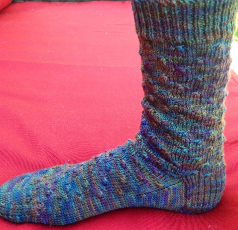 first Wildflower sock completed