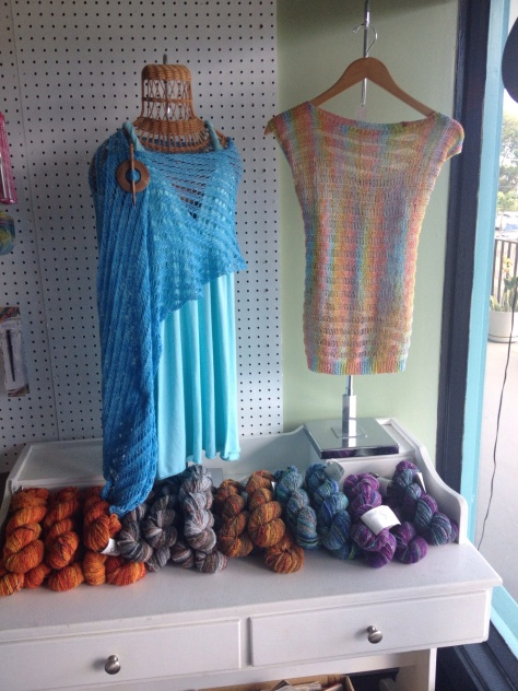 I should have taken more photos. The whole shop was tastefully done with artful displays of beautiful yarn.