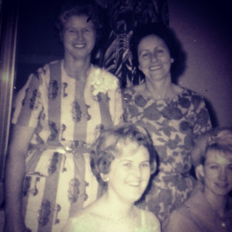 taken at Mother's bridal shower.  Her mom is on the left, my dad's mom is on the left, My mom is in the center and my dad's sister is sitting on the right