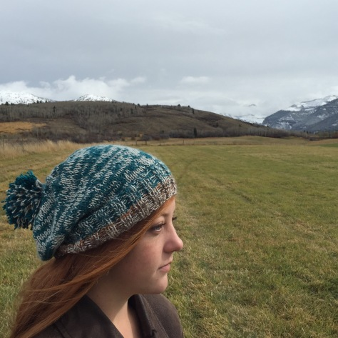 Teton River Marled hat, Blue Sky Alpacas Alpaca Silk, 50% silk 50% alpaca