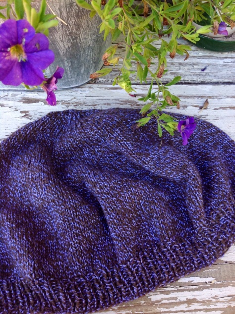Beret in Strange Twist, a twist of 100% Bison down and 50% silk, 50% bamboo
