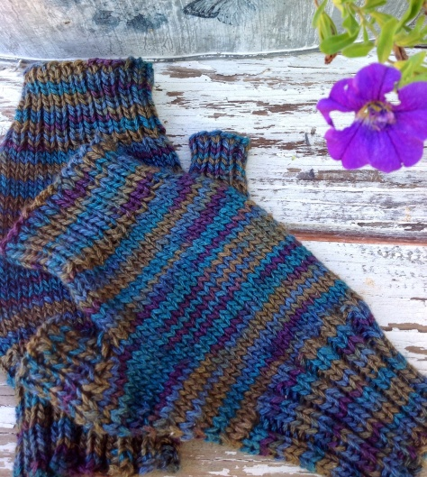 Dreaming of Spring Fingerless Gloves knit in Sport 6, 45% Bison, 20% Silk, 20% Cashmere, 15% Tencel - this yarn has to be touched to be believed!