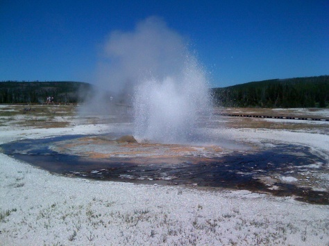 Geyser at Lake Yellowstone