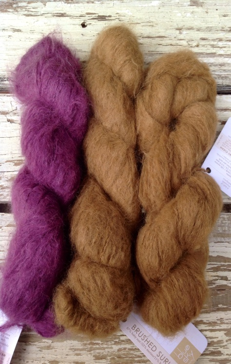 Brushed Suri, 67% Alpaca, 22% Merino, 11% Bamboo - this stuff is heaven!!!