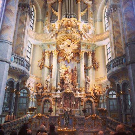 Frauenkirche organ pipes, newly restored