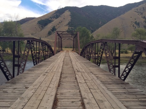 Bridge crossing the Salmon River, Idaho