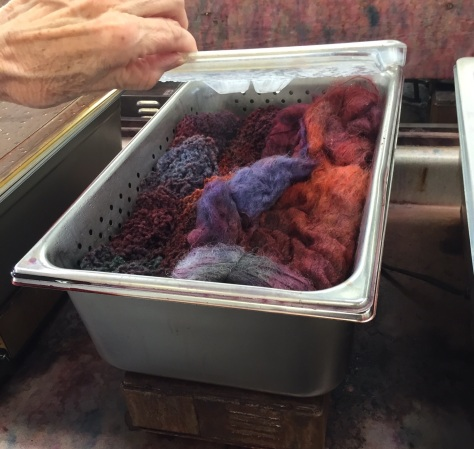 Heat processing with vinegar for colors that stay put