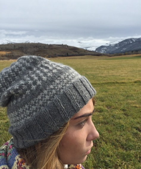 Grenoble Fair Isle Hat, Lang Yarns Baby Alpaca, 100% alpaca
